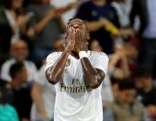El delantero brasileño del Real Madrid Vinicius Junior, conmovió a los admiradores del club merengue. (Foto Prensa Libre: EFE)