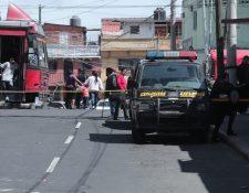 PNC acordona el área donde ocurrió la explosión el 21 de enero de 2019 (Foto Prensa Libre: Hemeroteca)