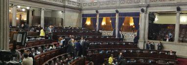 Empieza la sesión ordinaria para aprobar el estado de Sitio decretado por el Ejecutivo. (Foto Prensa Libre: Manuel Hernández)