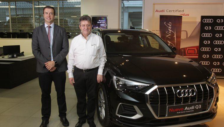 Directivos de Audi Center Guatemala presentaron el nuevo Audi Q3. Foto Norvin Mendoza