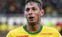 "(FILES) In this file photo taken on November 4, 2018 Nantes' Argentinian forward Emiliano Sala celebrates after scoring a goal during the French L1 football match between Nantes (FC) and Guingamp (EAG), at the La Beaujoire stadium in Nantes, western France. - Footballer Emiliano Sala and the pilot flying his plane when it crashed were likely exposed to ""potentially fatal"" levels of carbon monoxide, investigators announced on August 14, 2019. ""Toxicology tests found that the passenger had a high saturation level of COHb (the combination product of carbon monoxide and haemoglobin),"" Britain's Air Accidents Investigation Branch (AAIB) said in a special bulletin. (Photo by JEAN-FRANCOIS MONIER / AFP)"