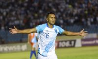Guatemalan's Jorge Vargas celebrates after scoring against Anguilla's during CONCACAF Nations League football match at Doroteo Guamuch stadium in Guatemala City, on September 5, 2019. (Photo by Johan ORDONEZ / AFP)