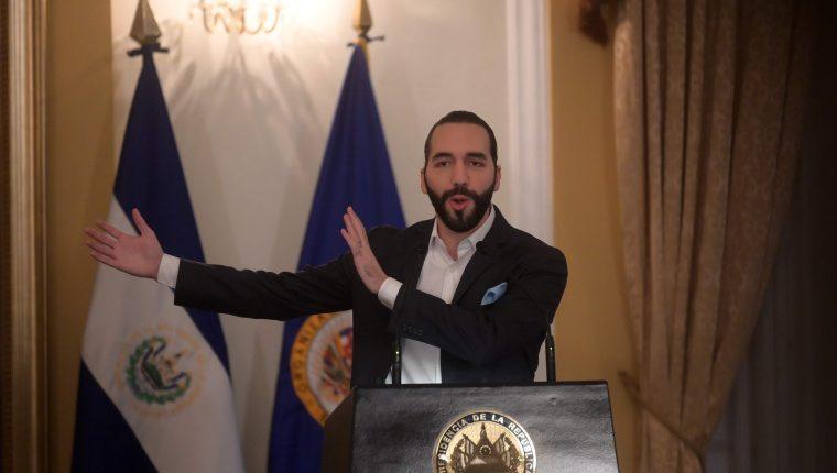 Nayib Bukele, presidente de El Salvador busca negociar un acuerdo con Estados Unidos. (Foto Prensa Libre: AFP)