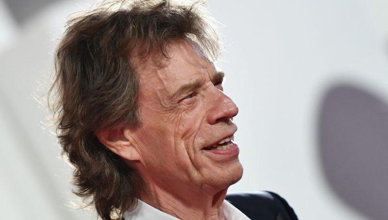 Mick Jagger cuando asistió al Festival Internacional de Cine de Venecia en 2019. Foto Prensa Libre: AFP
