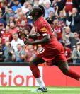 El senegalés Sadio Mané anotó los dos goles para el triunfo del Liverpool. (Foto Prensa Libre: AFP)