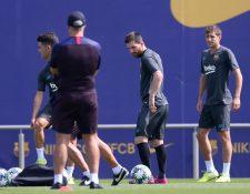 Lionel Messi podría ser opción para jugar la Champions contra el Borussia. (Foto Prensa Libre: AFP)