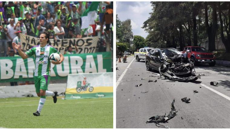 Pablo Aguilar sufrió un accidente, pero los daños solo fueron materiales. (Foto Prensa Libre: redes y Luis López)