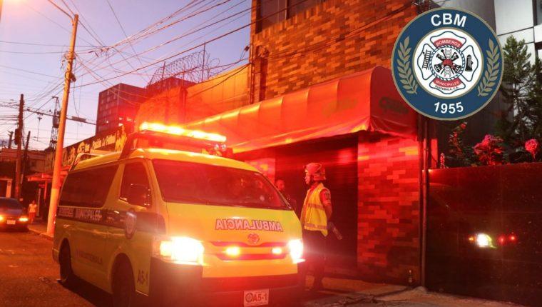El ataque armado ocurrió en la 11 calle 0-68 de la zona 10 capitalina. (Foto Prensa Libre: Bomberos Municipales)