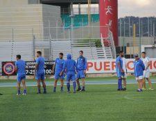 La escuadra nacional en el estadio Centroamericano de Mayagüez en donde enfrentará a Puerto Rico. (Foto Prensa Libre: ACD)