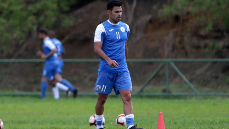 Fotografía de archivo del 21 de mayo de 2019 que muestra al capitán de la selección de Nicaragua, Juan Barrera. (Foto Prensa Libre: EFE)