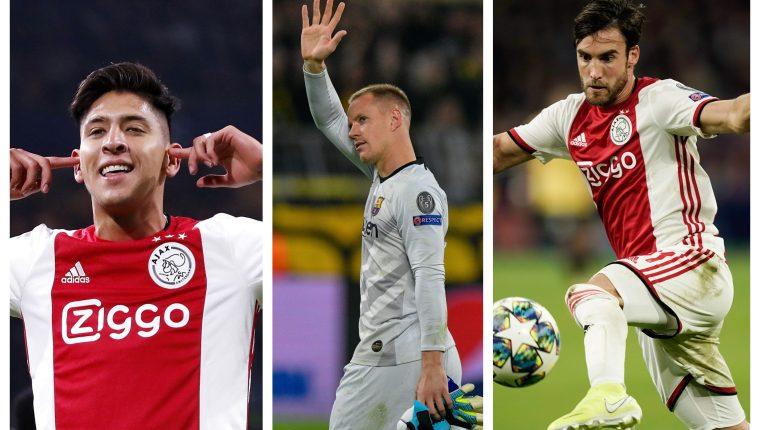 Ellos son tres de los jugadores que conforman el once ideal. (Foto Prensa Libre: EFE y AFP)