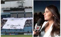 Carolina Padrón no niega su afición por Comunicaciones y la presume. (Foto Prensa Libre: Francisco Sánchez e Instagram @carolinapadronr)