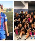 María Amanda Monterroso y Ana Lucía Martínez festejaron con sus equipos este domingo. (Foto Prensa Libre: Instagram @maria8amanda y Twitter @Analu_Marti21)