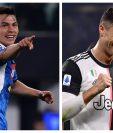 El Chucky Lozano y Cristiano Ronaldo anotaron en el duelo entre Nápoli y Juventus, en la Serie A. (Foto Prensa Libre: AFP)