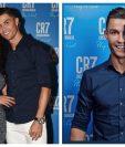 Georgina Rodríguez y Cristiano Ronaldo, durante la presentación del perfume de CR7. (Foto Prensa Libre: Instagram)