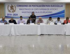 Comisiones de Postulación para magistrados de la Corte Suprema de Justicia y de Apelaciones  (Foto Prensa Libre: Hemeroteca PL)