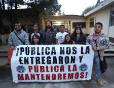 Universitarios que tenían tomado el Cunoc informaron que el lunes liberaran las instalaciones. (Foto Prensa Libre: María Longo)