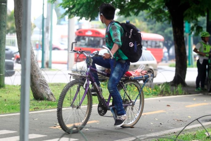 Más ciclousuarios en las calles de Guatemala