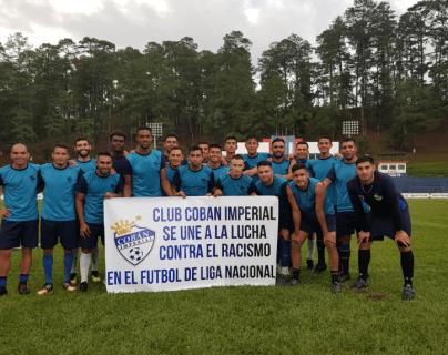 Los cobaneros piden que no exista más racismo en el futbol guatemalteco. (Foto Prensa Libre: La Red)