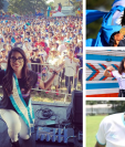Desde Ana Sofía Gómez a Alejandro Galindo, así celebraron la independencia de Guatemala los atletas chapines. (Foto Prensa Libre: Twitter e Instagram)
