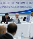 Reunión de la Comisión de Postulación para elección de magistrados de la Corte Suprema de Justicia. (Foto Prensa Libre: Hemeroteca PL)