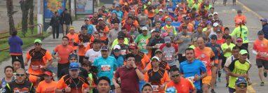 El medio maratón internacional de Xela es el evento deportivo con mayor participación en la ciudad. (Foto Prensa Libre: Raúl Juárez)