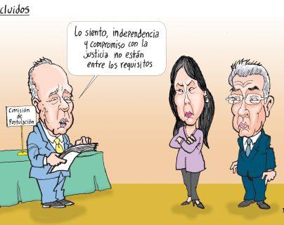 Personajes: Félix Serrano, Erika Aifán y Miguel Ángel Gálvez.