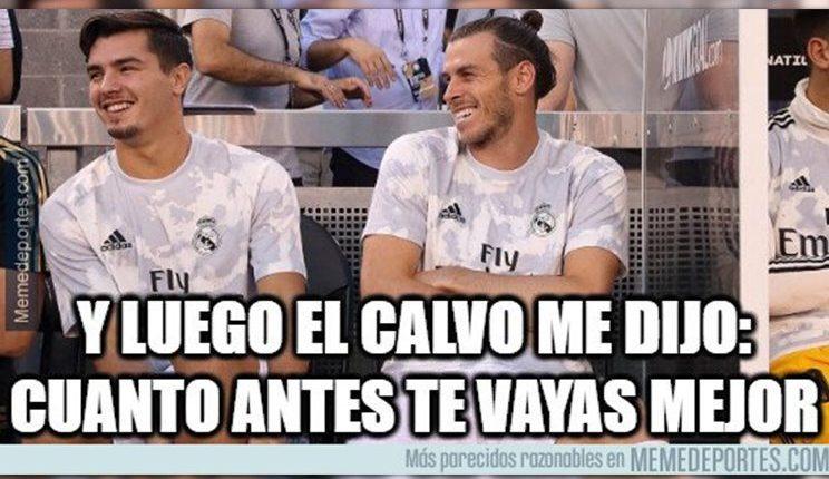 Gareth Bale y sus roces con Zidane en la pretemporada fue motivo de memes en el   empate del Real Madrid contra el Villarreal. (Foto Prensa Libre: Redes)