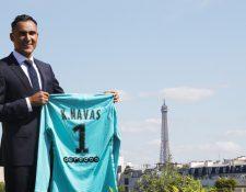 Keylor Navas es el nuevo portero del PSG. El guardameta tico jugó cinco temporadas en el Real Madrid. (Foto Prensa Libre: Keylor Navas)