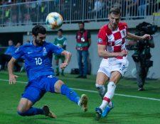 Croacia no pasó del empate en su visita al combinado azerí. (Foto Prensa Libre: Twitter de la selección de Croacia @HNS_CFF)