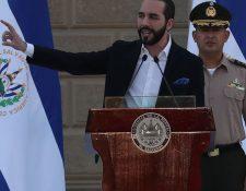 El presidente de El Salvador, Nayib Bukele, durante una conferencia de prensa. (Foto Prensa Libre EFE)