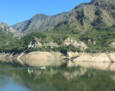 Embalse de la Hidroeléctrica Chixoy muestra el nivel a julio del 2019. (Foto, Prensa Libre: Inde).