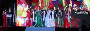 Las representantes de Alta Verapaz, Izabal, Jalapa, Petén y San Marcos, fueron las cinco finalistas. (Foto Prensa Libre: María Longo)