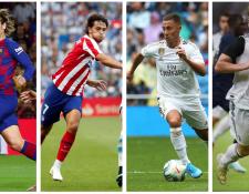 Griezmann, Joao Félix, Hazard y De Ligt tendrán que demostrar  en la Champions League por qué cambiaron de equipos. (Foto Prensa Libre: EFE y AFP)