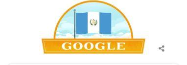 Como es tradición desde hace varios años, Google rindió homenaje a Guatemala este 15 de septiembre. (Foto Prensa Libre: Google).
