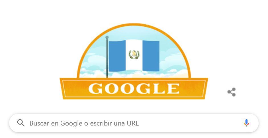 """Como es tradición, Google dedica su """"doodle"""" por la Independencia de Guatemala"""