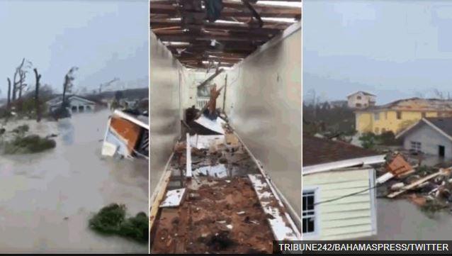 El paso del huracán Dorian dejó inundaciones y destrucción en las islas Ábaco, Bahamas.