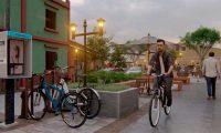 Parquímetros para bicicletas se incluyen en la propuesta de modernización del área peatonal de Huehuetenango. (Foto: Mike Castillo)