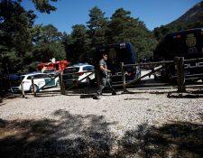 miembro de los Grupos Especiales de Operaciones (GEOS), durante el dispositivo de búsqueda de Blanca Fernández Ochoa en la zona de la Dehesa en Cercedilla. (Foto Prensa Libre: EFE)