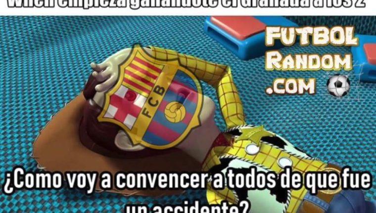 Los aficionados no le perdonaron a El Barcelona la derrota contra Granada y dieron rienda suelta a los memes. (Foto Prensa Libre: Redes)