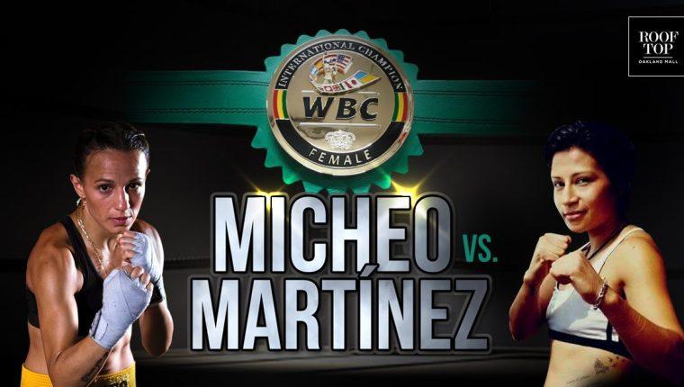 La guatemalteca Micheo (izquierda) espera seguir su paso triunfal en el boxeo profesional. (Foto Prensa Libre: María Micheo)