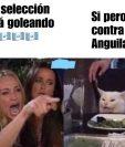 El meme del gato y la mujer enojada también fue utilizado para describir el partido de la Selección de Guatemala. (Foto Prensa Libre: Redes)