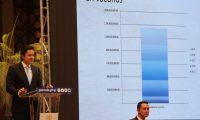 Victor Martinez, ministro de finanzas, hace presentaci—n del proyecto del presupuesto 2020 donde le pide a los diputados del Congreso de la Repœblica sea aprobado para el pr—ximo gobierno no valla a tener problemas con el presupuesto.   Fotograf'a. Erick Avila:                02/09/2019