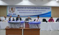 Comisión de Postulación para Corte Suprema de Justicia. (Foto Prensa Libre: Juan Diego González)