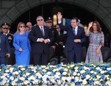 Jafeth Cabrera, vice presidente y Jimmy Morales, presidente, deberán ser juramentados para  formar parte del Parlacén (Foto Prensa Libre: Hemeroteca PL).