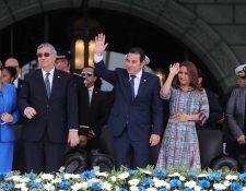 Jafeth Cabrera, vice presidente y Jimmy Morales, presidente, se incorporarán al Parlacén (Fot Prensa Libre: Hemeroteca PL)