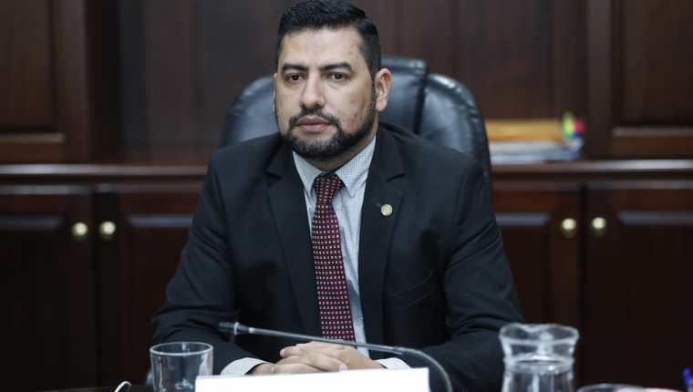 Carlos Guerra, Presidente del Consejo de la Carrera Judicial en declaraciones a Prensa Libre. (Foto Prensa Libre: Esbin García).