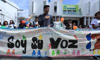 Una protesta en rechazo a la violencia contrala niñez. (Foto Prensa Libre: Hemeroteca PL)