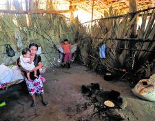 Familias del caserío Cementerio, Camotán, Chiquimula, sufren de desnutrición, ya que no cuentan con una alimentación adecuada. (Foto Prensa Libre: Érick Ávila)