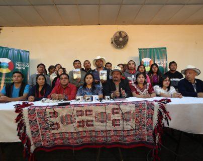 Integrantes del CPO se pronunciaron en Quetzaltenango para manifestar su rechazo al Censo. (Foto Prensa Libre: María Longo)